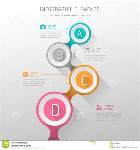 flowchart design flat design vector abstract flow chart infographic