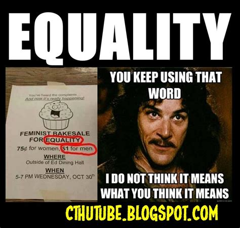 Equality Meme - cthutube meme of the day equality you keep using that