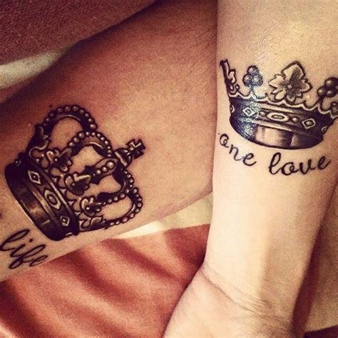 his and her king and queen tattoos king his my style