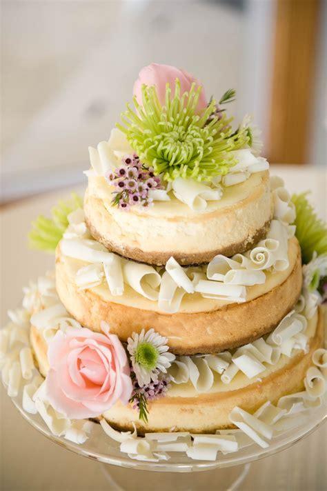 A wedding cake! Cheese cake with white chocolate swirls