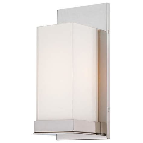 Kovacs Wall Sconce George Kovacs 1 Light Polished Nickel Wall Sconce P1700 613 The Home Depot