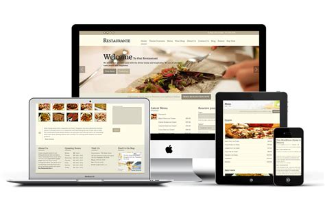 making theme responsive restaurante wordpress theme to create online booking or