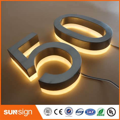 house numbers and letters aliexpress com buy custom led illuminated house numbers and letters sign from