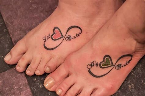 matching sisters tattoos infinity tattoo ideas for men