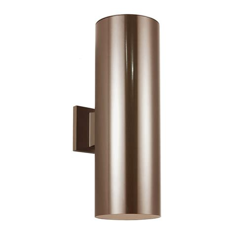 Outdoor Bullet Lights Sea Gull Lighting Outdoor Bullets 2 Light Bronze Outdoor Wall Fixture 8313902 10 The Home Depot