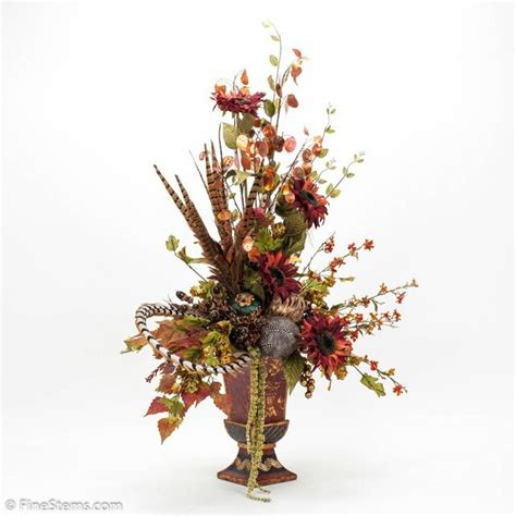 artificial flower arrangements for bathroom autumn silk flower arrangement finishing touches for our