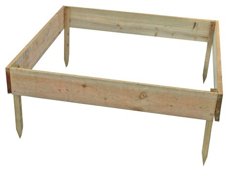 blooma rustic timber raised bed h 150mm w 1m