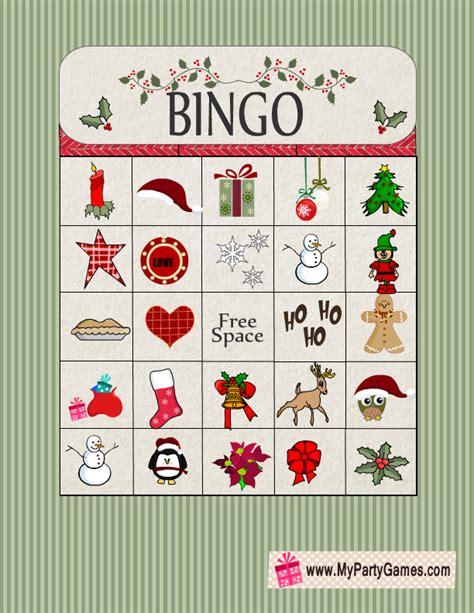 printable christmas bingo game cards free printable christmas bingo
