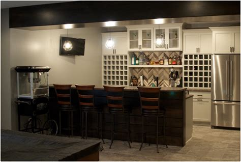 indianapolis basement remodeling with a bar