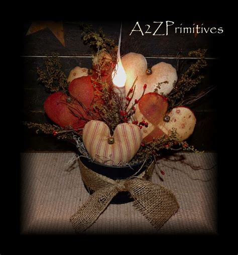 primitive valentines primitive hearts l