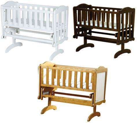 Rocking Cribs For Babies Saplings Glider Lockable Rocking Crib Cradle Baby Child Nursery Furniture Bn Ebay