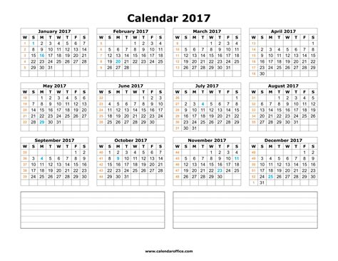 yearly calendar 2017 calendar printable templates calendar office
