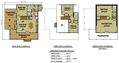 water view house plans small 2 story 3 bedroom cabin with wraparound porch