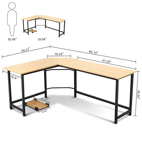 l shaped work desk tribesigns modern l shaped desk corner computer desk pc