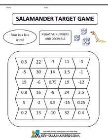 math games fifth grade salamander target game 5th grade bw