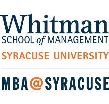Whitman Mba Industry by Whitman School S Mba Program Named 8 Globally By