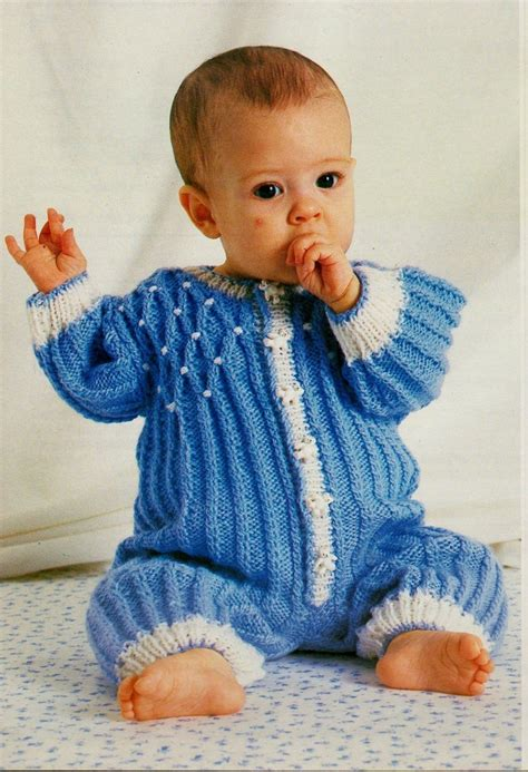 jumpsuit knitting pattern original vintage knitting pattern baby romper all in one