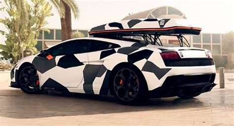 Camouflage Lamborghini Gallardo Camouflage Ski Transporter Lamborghini Gallardo Lp560