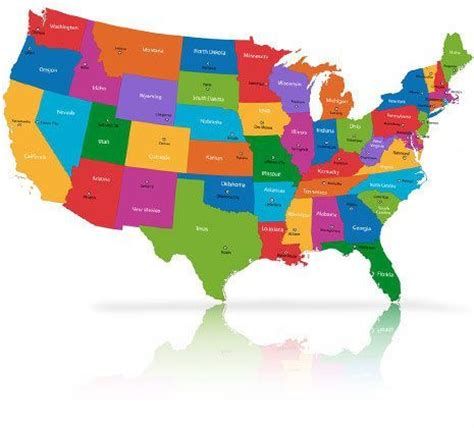 us map with states labeled | car interior design