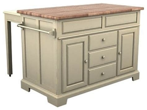 kitchen city island with pullout table transitional
