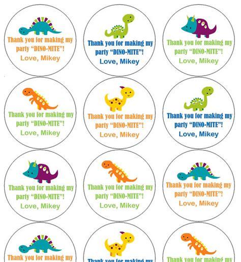 printable dinosaur gift tags 12 bright dinosaur stickers thank you stickers goodie