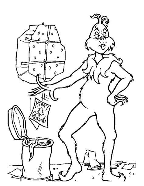 coloring page of grinch der grinch und weihnachten zum ausmalen zum ausmalen de