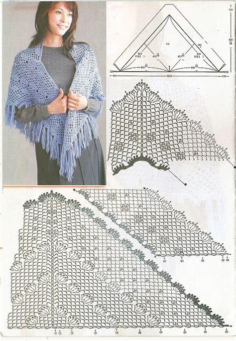 de mis manos tejidos y mas en dos agujas de mis manos tejidos y mas chal dos crochet shawl