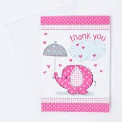 elephant print baby shower thank you cards pink gettingpersonal co uk