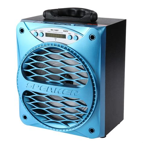 large bluetooth speakers with lights ms 136bt big portable bluetooth speaker bass powerful