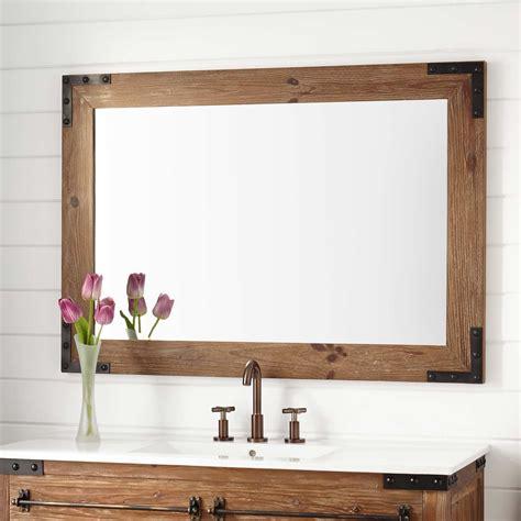 pine bathroom mirror 48 quot bonner reclaimed wood vanity for undermount sink