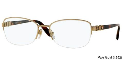 buy versace ve1230b semi rimless half frame prescription