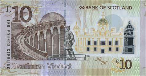 Schottland Scotland Bank Of Scotland P Neu 10 Pounds