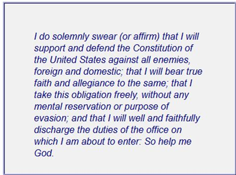 President Oath Of Office by Congressional Oath Of Office I Submit It Is