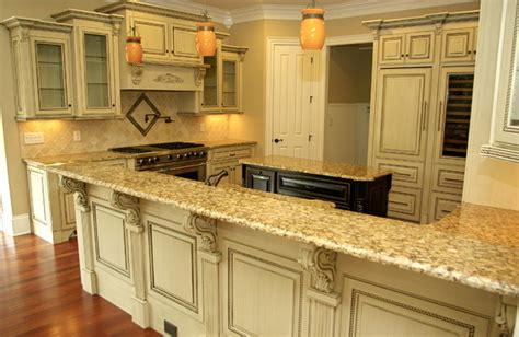 Most Beautiful Kitchen Designs by Antique Glazed Cabinetry Traditional Kitchen Other