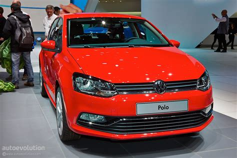volkswagen red car volkswagen polo facelift family detailed in geneva live