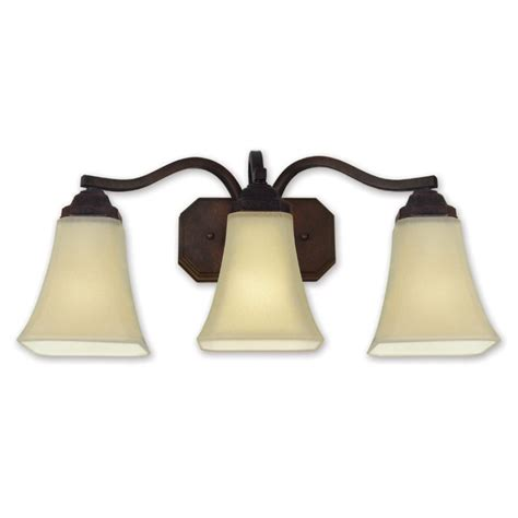 earth lighting 3 light bronze bathroom vanity light
