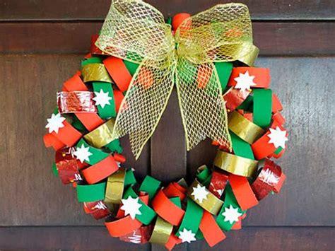 imagenes navideñas reciclaje 161 corona navide 241 a con material reciclable manualidades