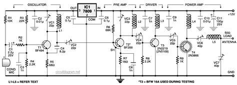 4 transistor fm transmitter mini fm transmitter schematic design
