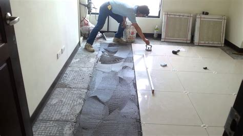 floor tile installation polished porcelain xcm youtube