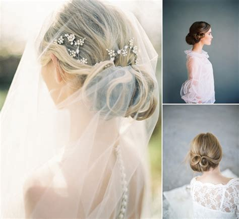 bridal hairstyles low bun with veil low bun wedding hairstyles with veil www pixshark com