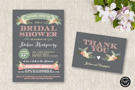 bridal shower invitations email new bridal shower invitation suite flora