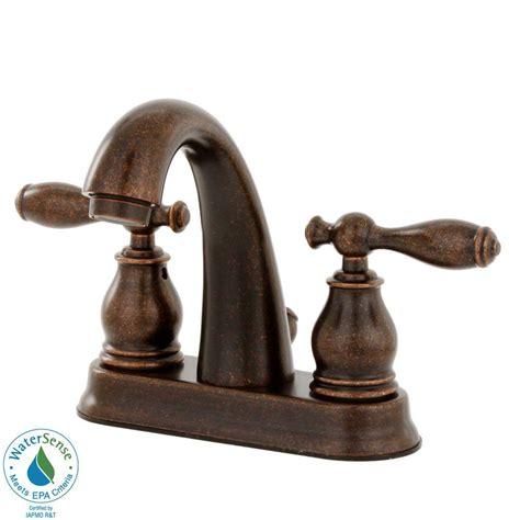 rustic faucets bathroom pfister unison 4 in centerset 2 handle high arc bathroom