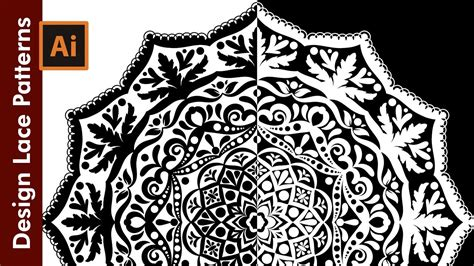 lace pattern ai how to design a lace pattern adobe illustrator tutorial