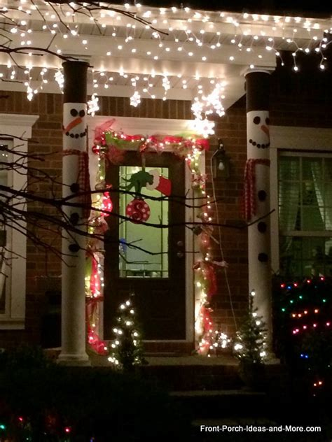christmas decorating outdoor columns decorating on a budget ideas