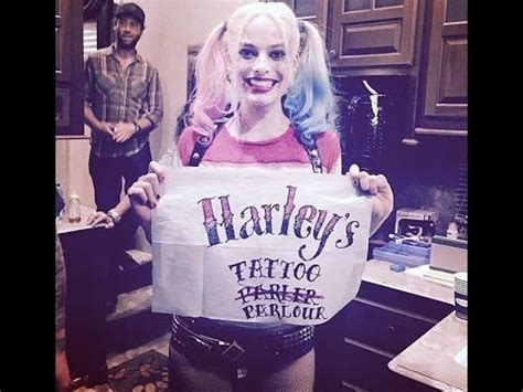 did margot robbie tattoo her suicide squad director on margot robbie gives tattoos to the cast of suicide squad