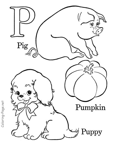 coloring pages letter p alphabet coloring book page letter p coloring home
