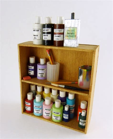 doll house supplies doll house supplies dollhouse miniature artisan made supplies shelf 092 ebay
