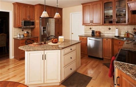 transitional kitchen with maple kitchen island morris