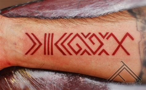 latin tattoo pics red latin symbol forearm tattoo tattooimages biz