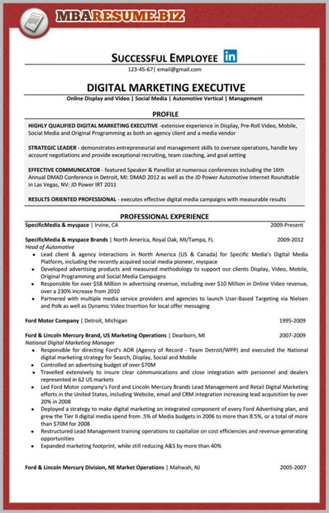 What Is An Mba Candidate by Mba Candidate Resume Resume Ideas